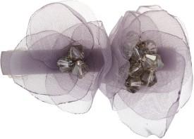 Vama Fashions Indo Western Wedding Bridal Party Wear Hair Clip(Grey)