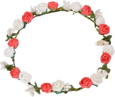Sanjog Glorious Flower Valentine Tiara/Headwrap For Bride/Women Head Band