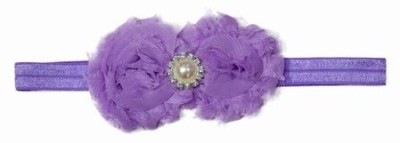 Pink & Blue India Kids Flower with Pearl Embellishment Head Band