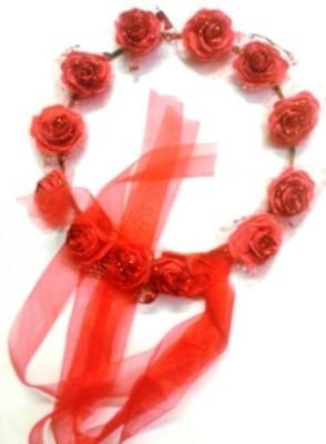 Blossom Red Tiara Head Band