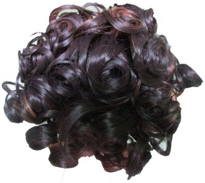 WigOWig Fancy Highlighted & Curly Messy Bun(Multicolor)