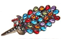SENECIO™ Multicolor Peacock Feather Barrette Clip Retro Vintage Fashion Rhinestone Hair Pin(Multicolor, Bronze) best price on Flipkart @ Rs. 299