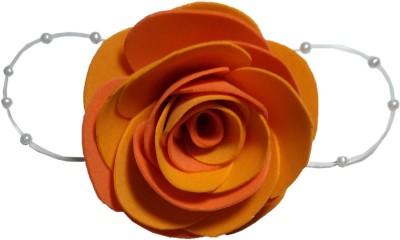 Apeksha Arts Yellow And Orange Floral Brooch Hair Pin
