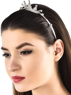 Prita Party Wear Crown/Hair Band Hair Band