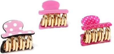 ToniQ Set of 3 Printed Pink Monalisa Hair Claw