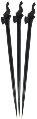 Prakrita Handicraft Elephant Head Hair Pins Made of Buffalo Horn (Pack of 3) Hair Pin