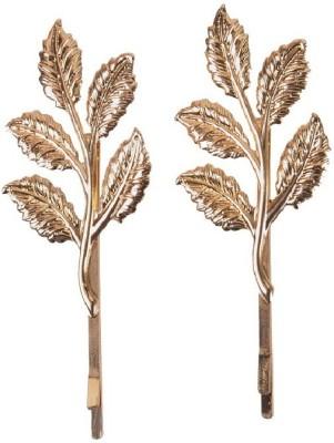 Aaishwarya Leaf Motif Golden Hair Clip