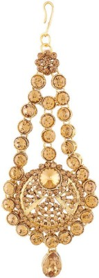 I Jewels Traditional Gold Plated Passa Tikka Hair Accessory Set