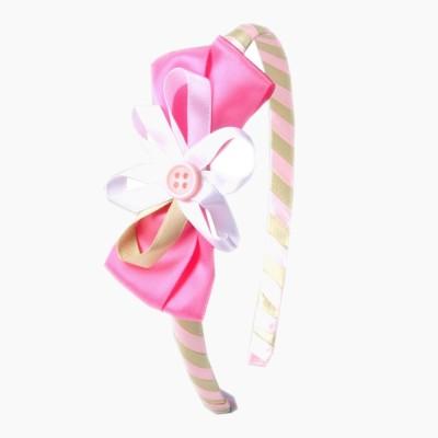 Addons Pink Colour Hair Band Hair Band