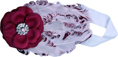 Anch Trending Two-Tone Feather Elastic Head Band