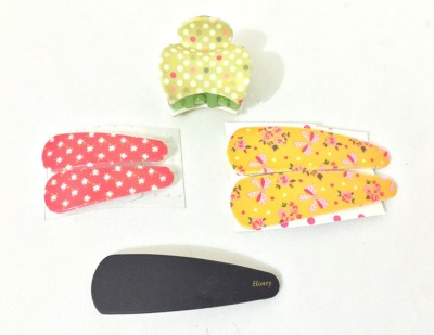 Ecombasket Combo of 4 Cute Looking Tic Tac Clip, Hair Claw