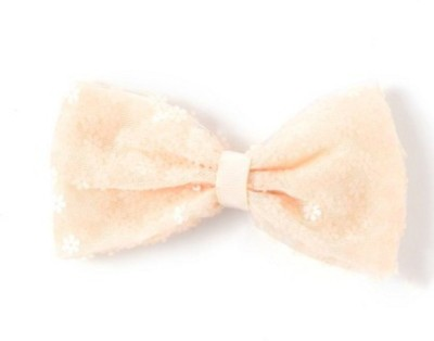 Angel Closet Bow with Glitter Flowers Hair Clip