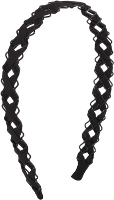 Fayon Contemporary statement Black Cress Cross Hair Band