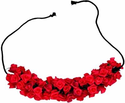 Multiline Company Tissue Flower Braid Extension(Red)