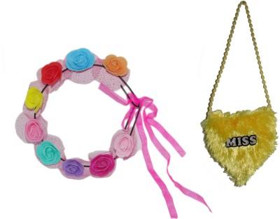 GD Tiara with Kids Sling Bag Hair Accessory Set