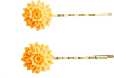 Bows Are Wows Chrysanthemum Floral Coral Hair Pin