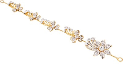 Pankh Pankh Diamond Studded Floral Tiara Head Band