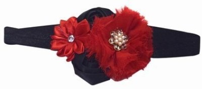 Pink & Blue India Beautiful Flower with Pearls Head Band