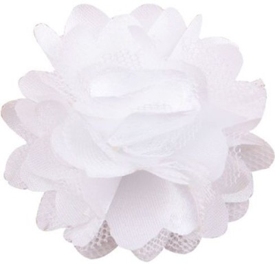 Bellazaara BELLAZAARA Cute Mini Mesh white Satin Hair Flower Clips girls Hair Clip