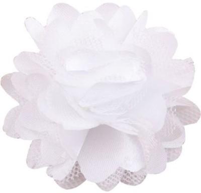 Bellazaara BELLAZAARA Cute Mini Mesh white Satin Hair Flower Clips girls Hair Clip