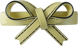 Ammvi Creations Sleek Bow Pattern Solid Gracious for Women Hair Clip