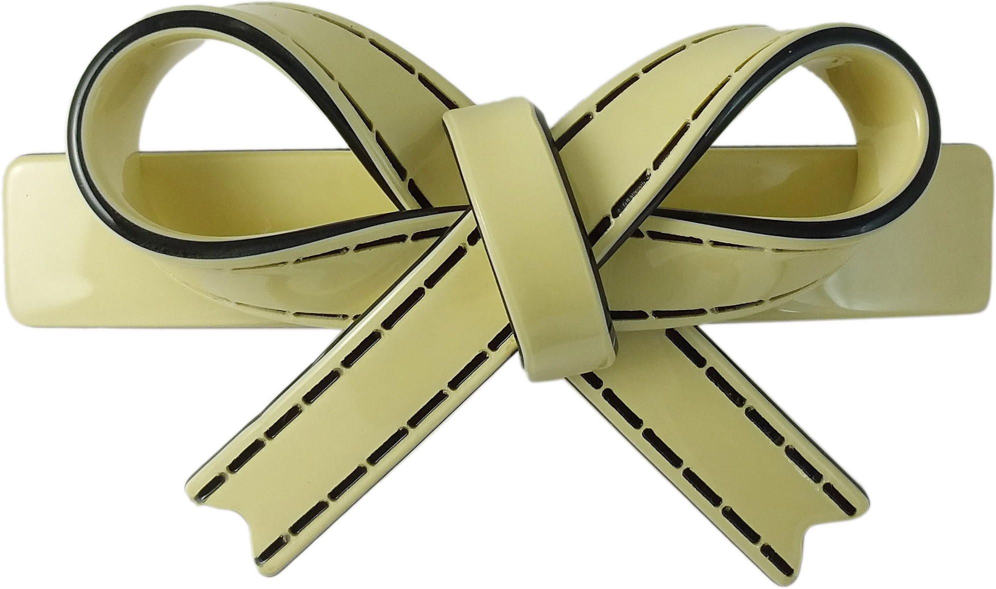Ammvi Creations Sleek Bow Pattern Solid Gracious for Women Hair Clip(Blue)