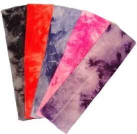 Kenz Laurenz Kenz Laurenz Cotton Lycra Tie Dye Stretch Headbands 5 Pack - Cotton Stretch Headbands Head Band(Multicolor)