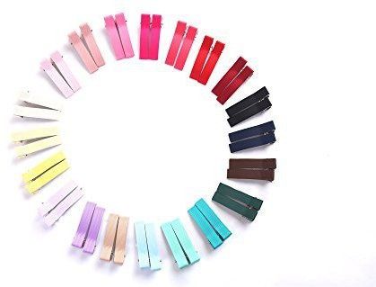Bzybel Bzybel Little Girls Baby Newborn Boutique Solid Color Hair Clips 20 Pairs in 20 Colors Hair Clip(Multicolor)