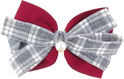 Fayon Fabulous Statement White And Maroon Fashionable Hair Clip