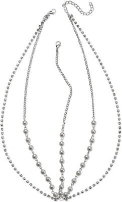 Fayon Silver Chains and Crystal Strings Hair Chain