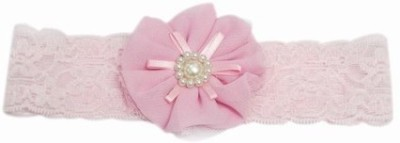 Pink & Blue India Gorgeous Net Flower Head Band(Pink)
