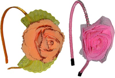 GD Pink Floral & Orange Bow Hair Accessory Set
