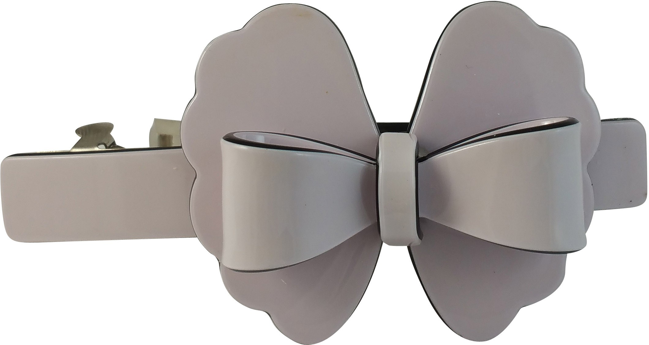 Ammvi Creations Floral-Bow Pattern Solid Gracious for Women Hair Clip(Purple)