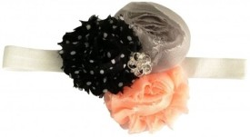 NeedyBee Soft Lace with Flower Embellishment in Georgette Head Band