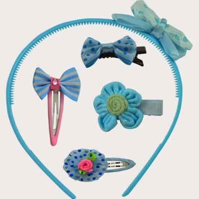 Angel Glitter Cute Blue Butterfly Combo Hair Accessory Set