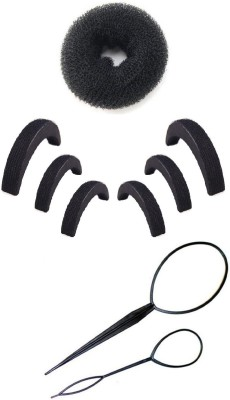 Pankh Puff , Topsy Tail And Donut Bun Maker Hair Accessory Set