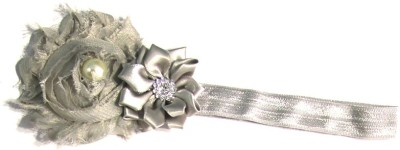 BabyCouture Vintage Duo Of Flower & Pearl Hair Band