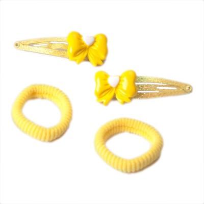 Addons Yellow Colour H-Pin+Scrunchy Hair Pin