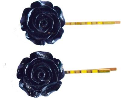 Bows Are Wows Black Rose Hair Pin