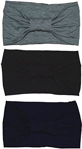 South Coast Trade LLC Womens Sweat Wicking Workout Headbands Head Wrap Best Looking Head Scarf Headband for Sports or Fashion, or Travel,3 Pack Head Band(Multicolor)
