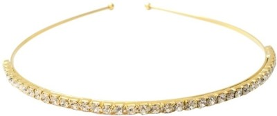 TakeIncart Golden White Stone Fitted Hair Band