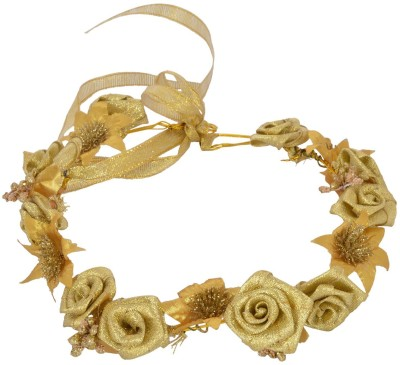 Sanjog Flower AdjustableTiara/Headwrap For Bride/Girls For Wedding Head Band