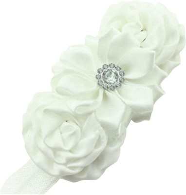 BabyZinnia Satin Flower Diamond Pearl Head Band