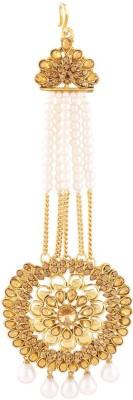 I Jewels Traditional Gold Plated Deepika Padukone Inspired Stone Passa Tikka Hair Accessory Set