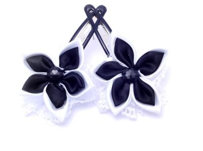 Soni Fashions Black Flower Tic Tac Clip