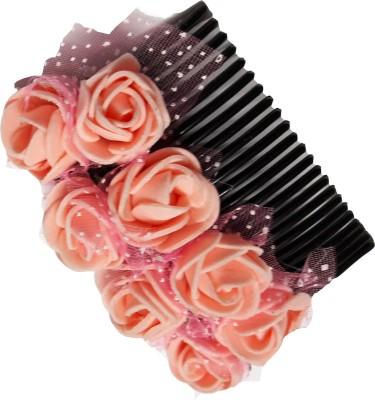 Blossom Peach flower Gajra style comb Hair Clip