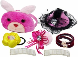 Takspin Hair Accessories Combo Set Multicolor Hair Accessory Set(Multicolor)