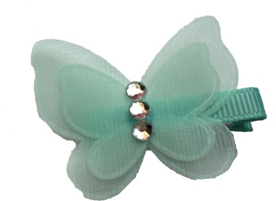Bellazaara Pretty Butterfly With Rhinestone : Blue Hair Clip