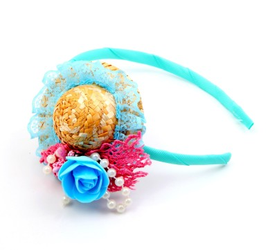 Sanjog Sanjog Aqua Blue Bubbly Hat Style Joot For Girls/Kids Hair Band
