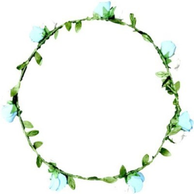 Pankh Flower Leaf Tiara Head Band Hair Band